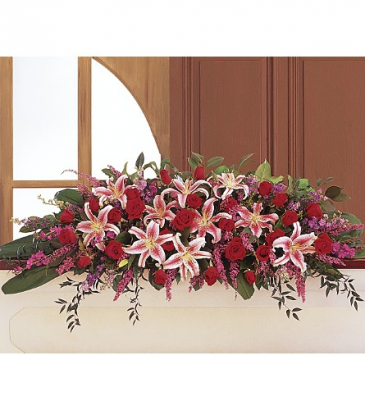 Teleflora's Amethyst And Ruby Casket Spray