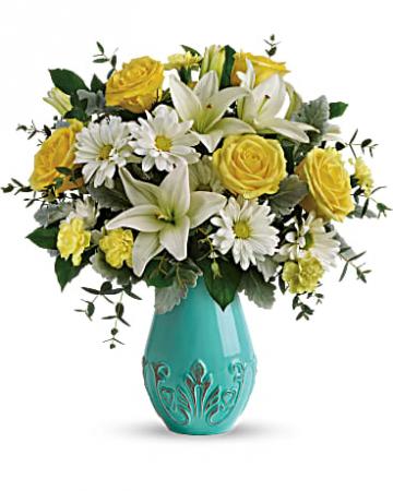 Teleflora's Aqua Dream Bouquet bouquet