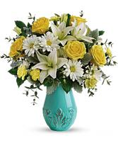 Teleflora's Aqua Dream Bouquet spring