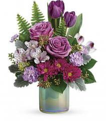 Teleflora's Art Glass Garden Bouquet
