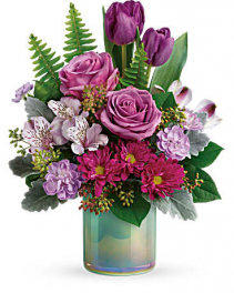 Teleflora's Art Glass Garden Bouquet Arrangement