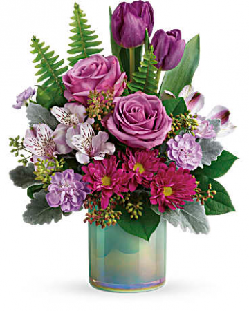 Teleflora's Art Glass Garden Bouquet Fresh Mixed Flower Arrangement