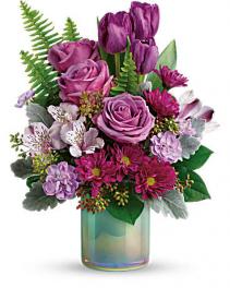 Teleflora's Art Glass Garden Bouquet Spring
