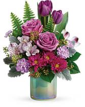 Teleflora's Art Glass Garden Bouquet Vase Arrangement