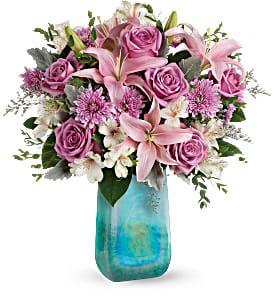 Teleflora's Art Glass Treasure Bouquet in Coral Springs, FL | DARBY'S FLORIST