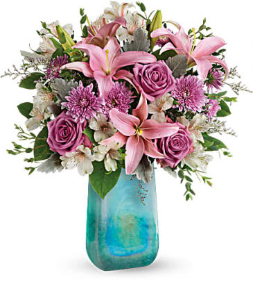 Teleflora's Art Glass Treasure Bouquet Anytime