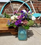 Teleflora's Art Glass Treasure Bouquet Fresh Arrangement