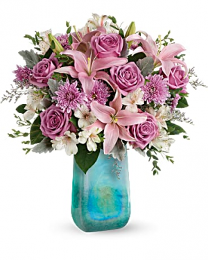 Teleflora's Art Glass Treasure Bouquet Mother's Day in Lufkin, TX | THE FLOWER POT