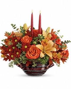 Fall* Autumn Gathering CenterpieceT16T100A Fall Flowers