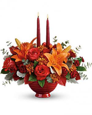 Teleflora's Autumn In Bloom Centerpiece  in Edgewood, MD | ALWAYS GOLDIE'S FLORIST