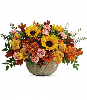 Teleflora's Autumn Sunbeams  in Livermore, CA | KNODT'S FLOWERS