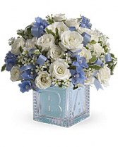 Teleflora's Baby's First Block -Blue