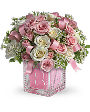 Teleflora's Baby's First Block - Pink
