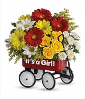 Teleflora's Baby's first wagon Fresh