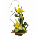 Teleflora's Bamboo-O-Artistry Tropical arrangement