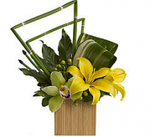 Teleflora's Bamboo Zen  Tropical arrangement