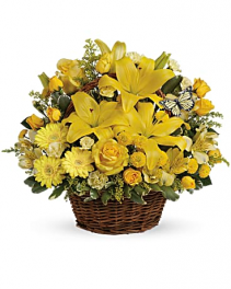 Teleflora's Basket Full of Wishes Fresh Arrangement