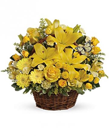 Teleflora's Basket Full of Wishes Fresh Arrangement