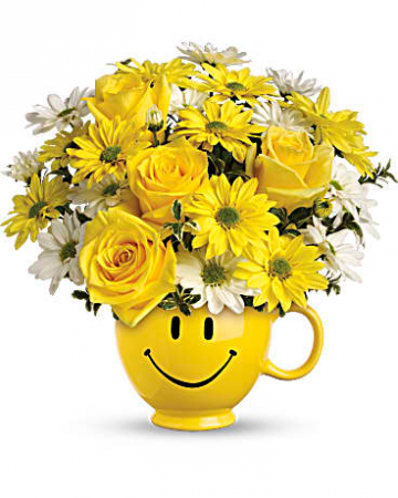 Teleflora's Be Happy® Bouquet with Roses Fresh Arrangement