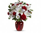 Teleflora's Be My Love Bouquet Vased Arrangement