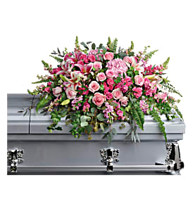 Teleflora's Beautiful Memories Casket Spray Sympathy in Auburndale, FL | The House of Flowers