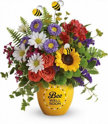 Teleflora's Bee Well Soon Pot  Flower arrangement