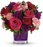 Teleflora's Bejeweled Beauty Cube Arrangement