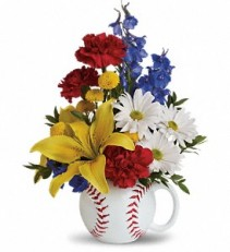 Teleflora's Big Hit Bouquet Keepsake Baseball Mug