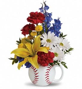 Teleflora's Big Hit Bouquet Keepsake Baseball Mug