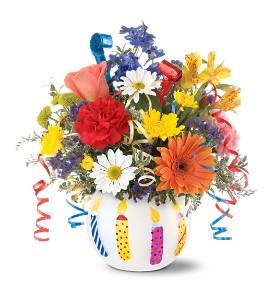 Birthday Flower Celebration  TF41-1 Fresh Floral Keepsake