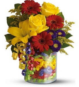 Telefloras Birthday Ribbon Bouquet Fresh Arrangement