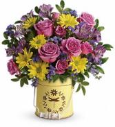 Teleflora's Blooming Pail Bouquet