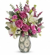 BLOOMING SPRING BOUQUET UN USUAL SHEEN STYLE VASE