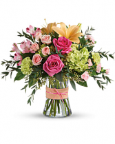 Teleflora's Blush Life Bouquet  Vase Arrangement