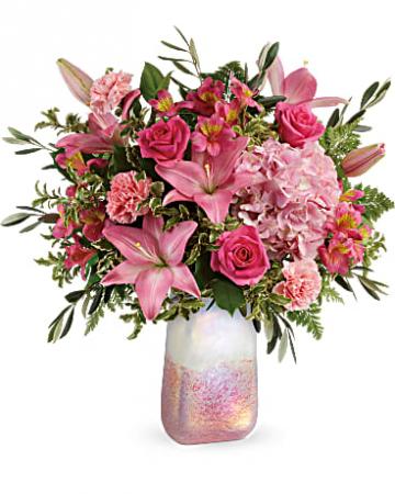 Teleflora's Blushing Gemstone Bouquet