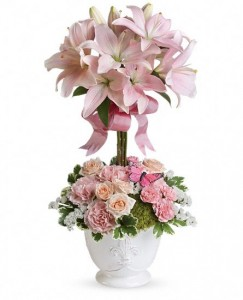 Teleflora's Blushing Lilies  in Sutton, MA | POSIES 'N PRESENTS
