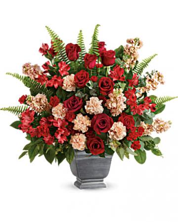 Teleflora's Bold Tribute Bouquet Urn