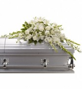 Teleflora's Bountiful Memories Casket Spray
