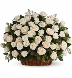 Teleflora's Bountiful Rose Basket Sympathy Basket Arrangement
