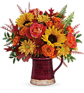 Teleflora's Bounty Of Blooms Bouquet DX  T19T205B Pitcher
