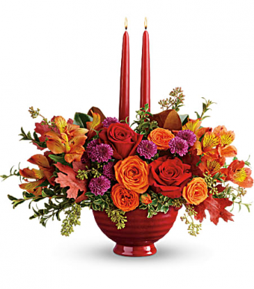 Teleflora's Brightest Bounty Centerpiece