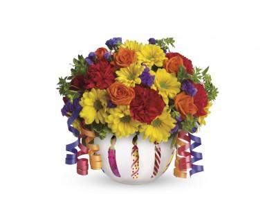 Teleflora's Brilliant Birthday Blooms T281A Birthday, Celebration