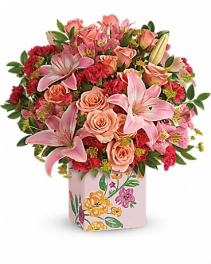 Teleflora's Brushed With Blossoms Bouquet Arrangement