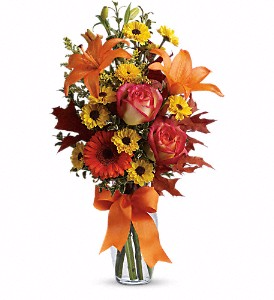 Teleflora's Burst of Autumn Fall in Valley City, OH | HILL HAVEN FLORIST & GREENHOUSE