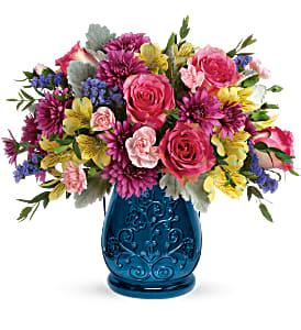 Teleflora's Burst of Blue Fresh Floral
