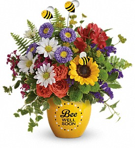 Teleflora's Buzzing Be Well Pot Fresh Flower's in Keepsake in Auburndale, FL | The House of Flowers
