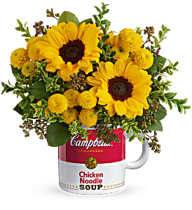 Teleflora's Campbell's Warm Wishes Bouquet Fresh Arrangement with a Teleflora Keepsake in Auburndale, FL   The House of Flowers