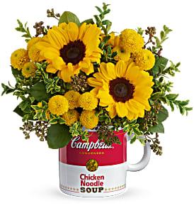 Teleflora's Campbell's Warm Wishes Bouquet Fresh Arrangement with a Teleflora Keepsake