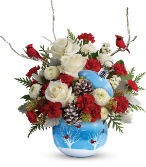 Teleflora's Cardinals in the Snow  Christmas  in Mount Pearl, NL | MOUNT PEARL FLORIST