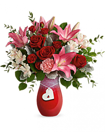 Teleflora's Charmed In Love Bouquet Fresh Arrangement
